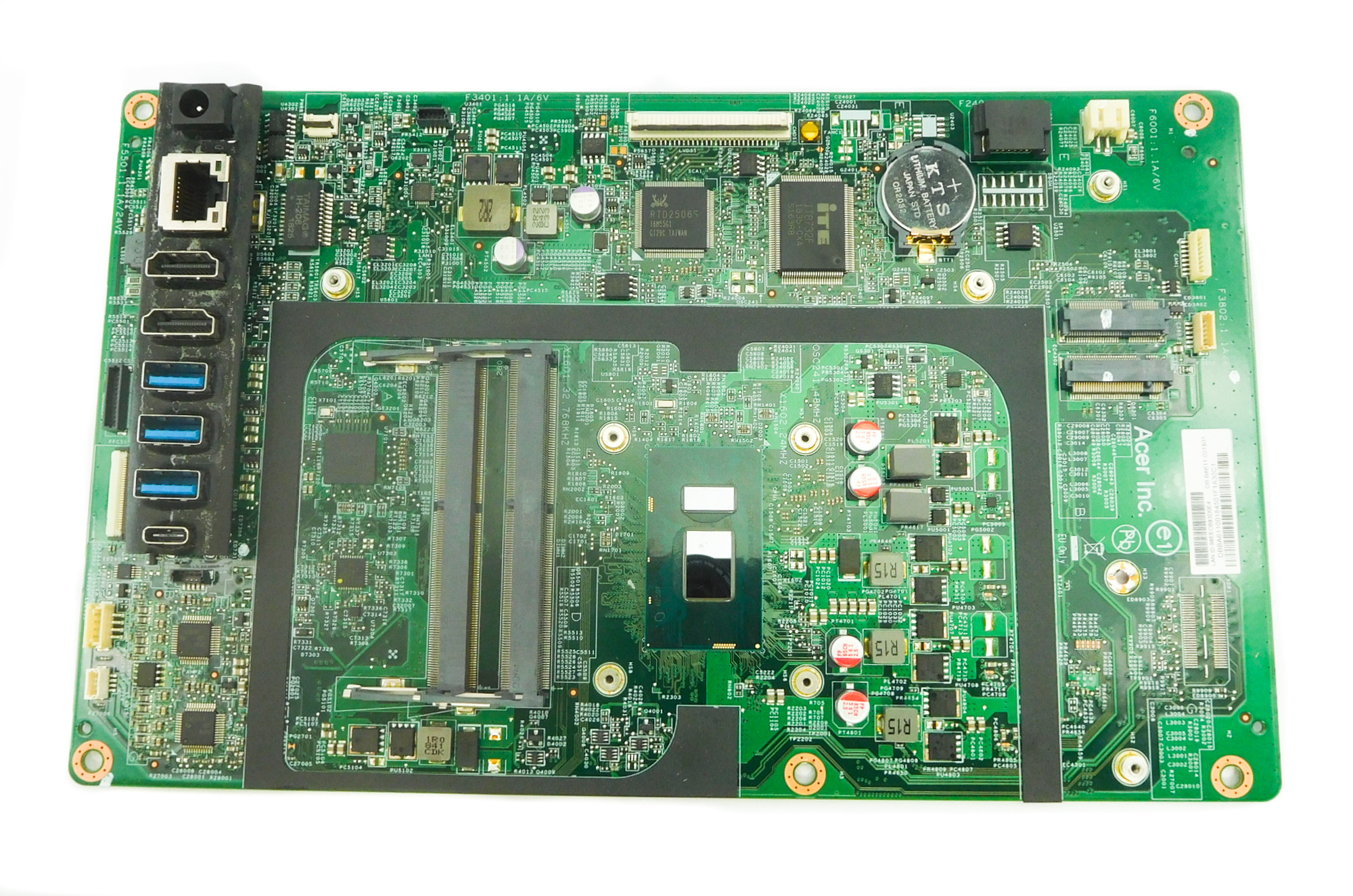 Acer DB.BA611.001 Aspire U27-885 AiO PC Motherboard w/ BGA i7-8550U CPU